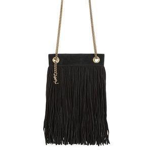 New YSL Grace Fringe Leather suede Shoulder Bag